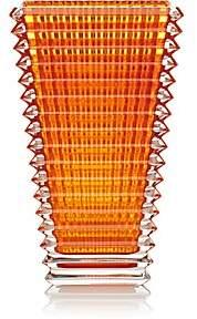 Baccarat Eye Crystal Large Rectangular Vase-Amber
