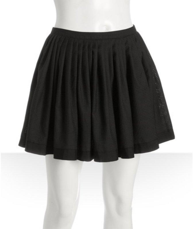 Twenty8Twelve black check 'Savino' full pleated skirt