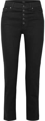 Joseph Den High-rise Straight-leg Jeans - Black
