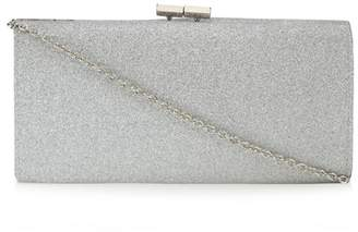 Lotus Silver Glitter 'Vibe' Clutch Bag