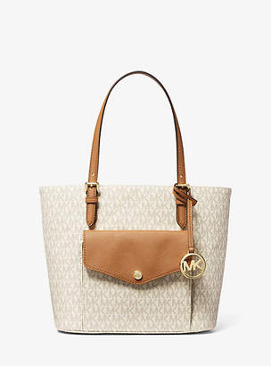 Michael Kors Jet Set Medium Logo Pocket Tote Bag