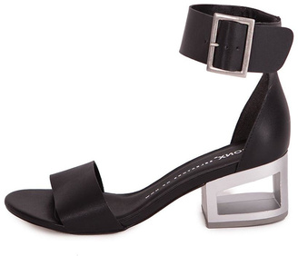 Bronx Black Leather Sandal $287 thestylecure.com