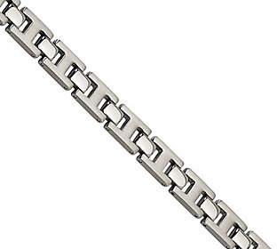 """Forza 8-1/4"""" Brushed w/ Polished Hinge Bracelet"""