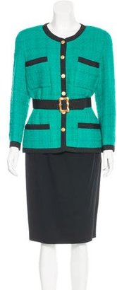 Chanel Two-Piece Skirt Suit $430 thestylecure.com