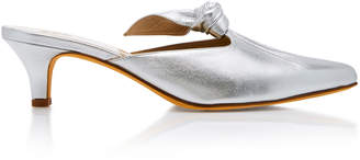 Maryam Nassir Zadeh Palo Metallic Leather Mule