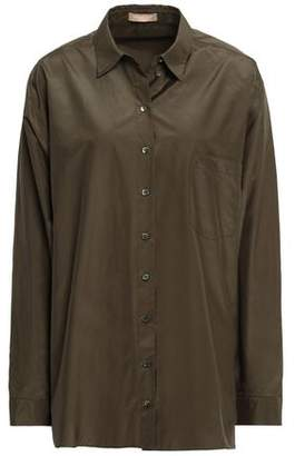Michael Kors Silk And Cotton-blend Shirt