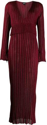 Just Cavalli long plisse glitter dress
