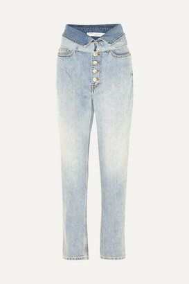 IRO Fasti Belted High-rise Tapered Jeans - Light denim