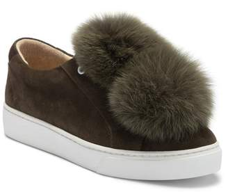 Here \u002F Now Here\u002FNow Lara Genuine Fox Fur Poms Slip-On Sneaker (Women)