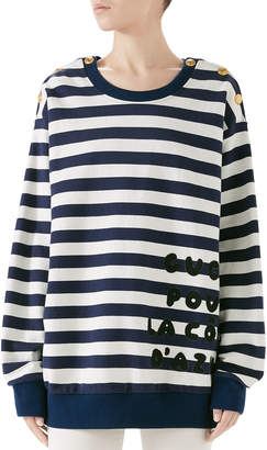 Gucci Cote d'Azur Striped Patchwork Sweatshirt