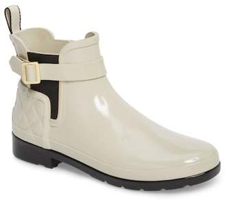 Hunter Refined Quilted Gloss Chelsea Boot (Women)