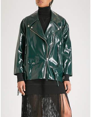 MM6 MAISON MARGIELA Patent cotton biker jacket