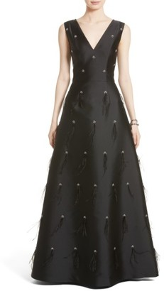 Women's St. John Collection Hand Beaded Mikado Gown $2,595 thestylecure.com