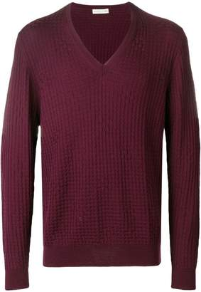 Etro V-neck textured sweater