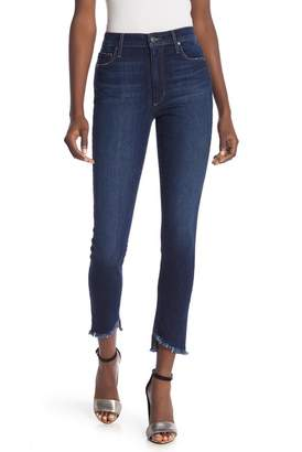 Joe's Jeans High Rise Frayed Ankle Skinny Jeans