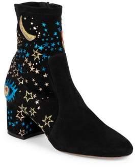 Astro Couture Suede Block-Heel Booties