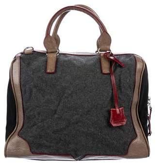 MZ Wallace Leather-Trimmed Felt Satchel