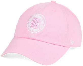 '47 Women's Los Angeles Clippers Petal Pink Clean Up Cap