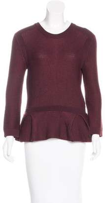 Burberry Knit Peplum Sweater