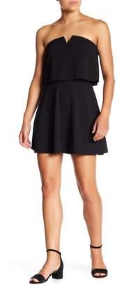 Love...Ady Strapless V-Cutout Popover Dress
