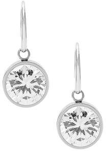 Michael Kors Crystal Bezel Drop Earrings $75 thestylecure.com