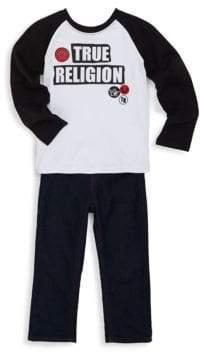 True Religion Little Boy's Raglan Logo Shirt & Jeans Two-Piece Set