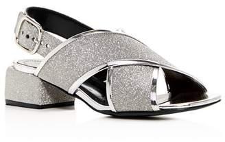 Marni Women's Glitter Crisscross Block-Heel Sandals