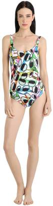 Moschino Beachwear Sunglasses Lycra One Piece Swimsuit