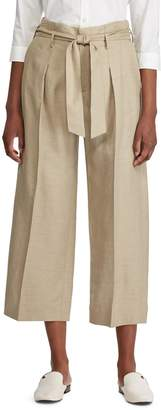 Lauren Ralph Lauren Wide-Leg Belted Pants