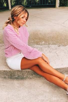 For Love & Lemons Knitz Mia Pointelle Sweater