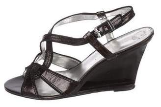 Calvin Klein Patent Leather Slingback Sandals