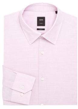 HUGO BOSS Regular-Fit Textured Dress Shirt