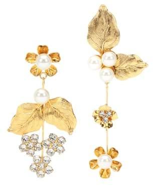 Jennifer Behr Asymmetric floral earrings
