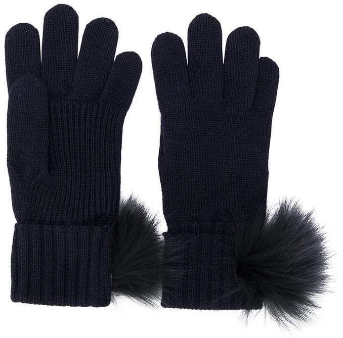 Moncler Kids pompom-embellished gloves