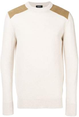 A.P.C. contrast-patch sweater