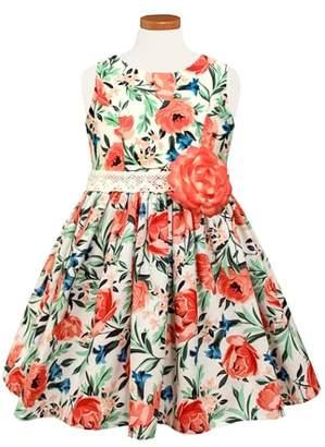 Sorbet Floral Print Sleeveless Dress