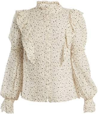 Rebecca Taylor Star-print silk-blend blouse
