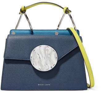 Danse Lente Phoebe Bis Color-block Textured-leather Shoulder Bag - Navy