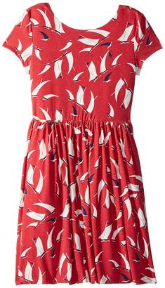 Polo Ralph Lauren Sailboat Twist-Back Dress Girl's Dress