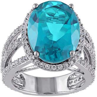 FINE JEWELRY Genuine Blue Quartz and White Topaz Ring