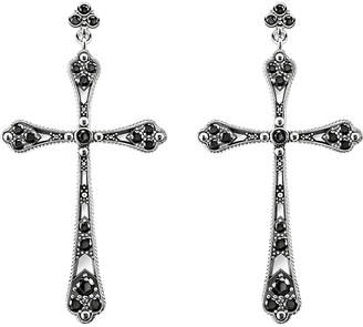 Thomas Sabo Royalty cross sterling silver and zirconia earrings