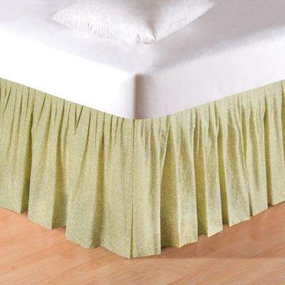 Bed Bath & Beyond Annie Fern Leaves Queen Bed Skirt in Green