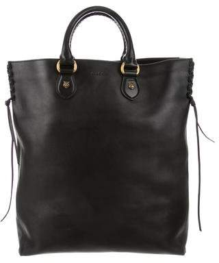Gucci Leather Animalier Tote