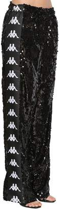 Faith Connexion Kappa Sequined Wide Leg Track Pants