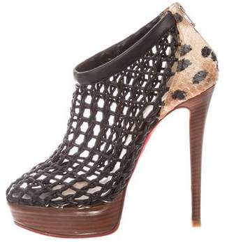 Christian Louboutin Coussin 140 Cage Python Booties