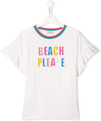 Pinko Kids 'Beach Please' printed T-shirt