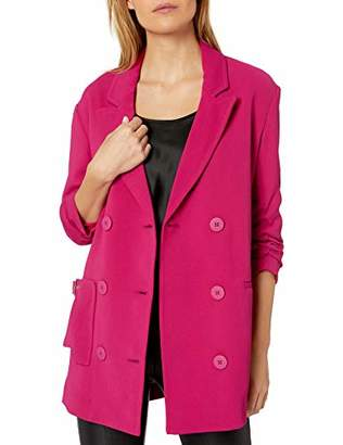 Armani Exchange A|X Women's Classic Double Breasted Blazer with Cinched Sleeves