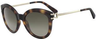 Longchamp Plastic & Metal Cat-Eye Sunglasses