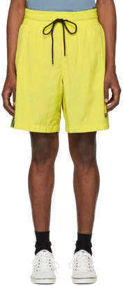 Diesel Yellow Boxie Track Shorts