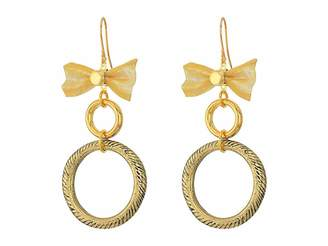 Vanessa Mooney The Mesh Bow Hoop Earrings